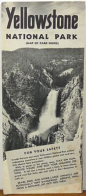 1954 Yellowstone National Park Wyoming vintage informational brochure & map b