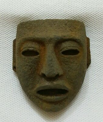 Pre-columbian Teotihuacan Stone Maskette Pendant