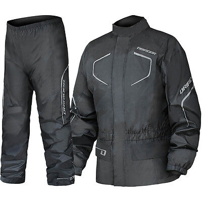 NEW DriRider Thunderwear 2 Wet Weather Waterproof Black Motorcycle Jacket Pants