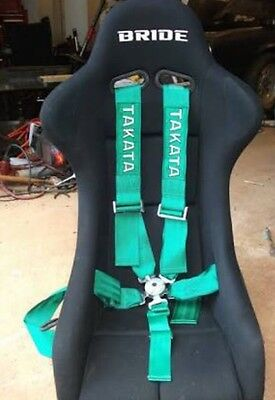 New TAKATA Green 5 POINTS Car Seat Belt with FIA 2020 harness
