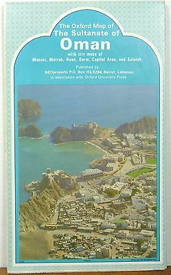 1980 The Sultanate of Oman vintage map and informational brochure b