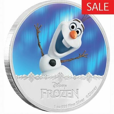NEW Perth Mint Disney Frozen - Olaf 2016 1oz Silver Proof Coin