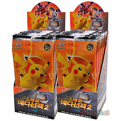 Pokemon Card Game TCG XY Special Edition Pack II Korean 2 Booster Boxes Display