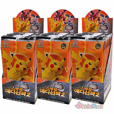 Pokemon Card Game TCG XY Special Edition Pack II Korean 3 Booster Boxes Display