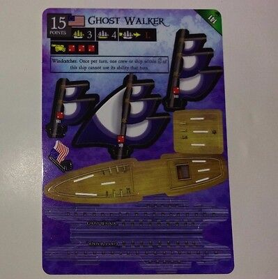 Wizkids Pirates Ghost Walker Rare Ship New and Unpunched  CSG Pocketmodel Card