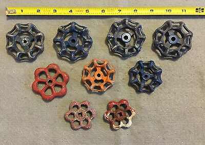 Lot Of 9 Vintage Light Metal Water Faucet Handles Knobs Valves Steampunk Lot #30