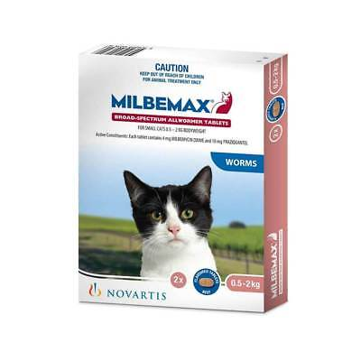 Milbemax Tablets All Wormer For Small Cats 0.5-2kg 2 Pack