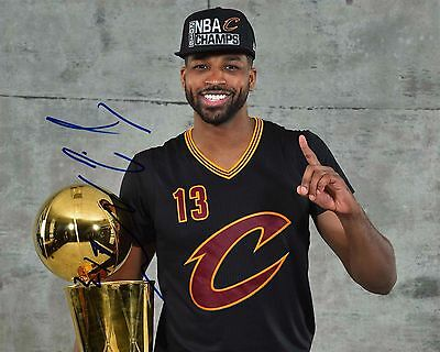 Tristan Thompson Signed 8x10 Cleveland Cavaliers Finals Photo COA NBA Champions
