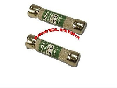 Spa pack circuit board *PACK OF 2* FUSES SC-25 Buss class G Time-Delay 25A 300V