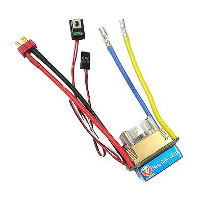 480A 3-Modes Brushed Speed Controller ESC T for 1/10 RC Car Buggy Rock Crawler