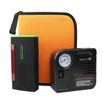 AU 68800mA 4 USB Car Jump Starter Emergency Charger Booster Power Bank Battery