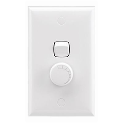 HPM 200W DIMMER SWITCH Leading Edge Type 240V 70x114mm - WHITE