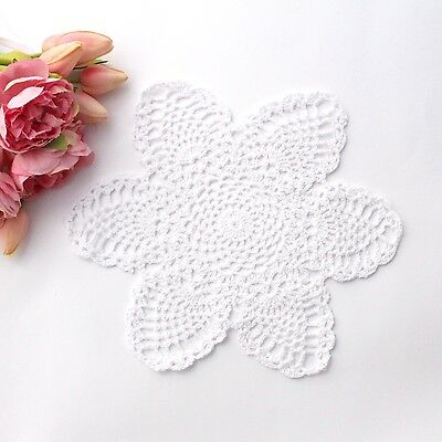 Crochet doily in white 28 cm for millinery , hair and crafts