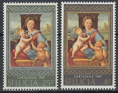 St. Lucia 1967 ** Mi.219/20 Weihnachten Christmas Gemälde Paintings [sq6254]