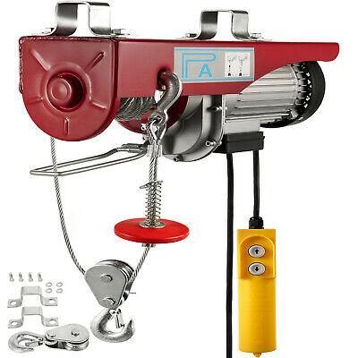 400KG Electric Hoist Winch Lifting Engine Crane Scaffold  Workshop Lift Hook