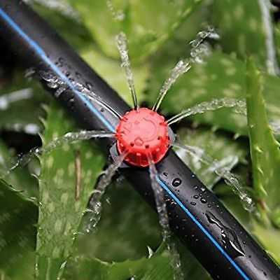 50Pcs Adjustable Micro Drip Irrigation Watering Anti-clogging Emitter Drippers