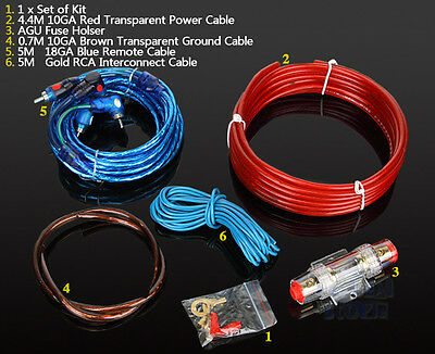 1500w Car Audio Subwoofer Sub Amplifier AMP RCA Wiring Kit Power Cable FUSE