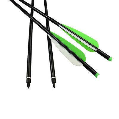"""20"""" Crossbow Bolts Archery Aluminum Arrows Moon Nock Hunting Points Screw-in"""