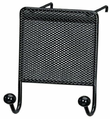 Fellowes Mesh Partition Additions Double Coat Hook, Black 75903