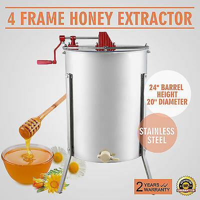 4/8 Extracteur De Miel 2 Couvercles Apiculture 4 Cadres Widely Trusted Great