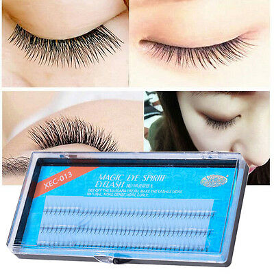 Natural Curl 3D Noir Individual Silk Lash Faux Cils Extension 0.07mm Maquillage
