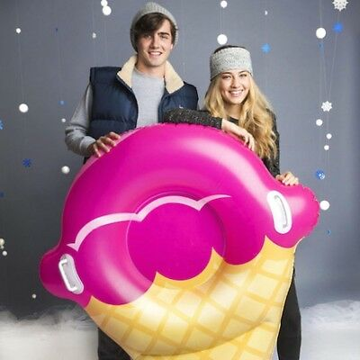 GIANT ICE CREAM CONE Inflatable Snow Tube Winter Sled Ride Pool Float - BigMouth