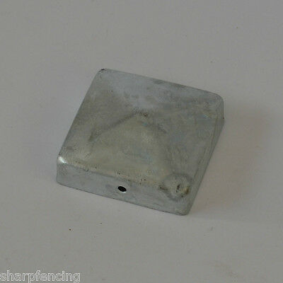 "5 x Metal Post Cap 4"" (100mm) Galvanised"