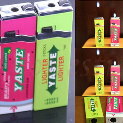 New Novelty Refillable Butane Gas Flame Fire Cigarette Smoke Chewing Gum Lighter