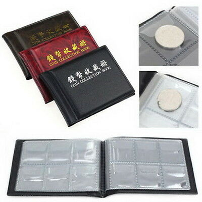 W&T 60 Coins Collection Holders Storage Money Penny Pocket Album Book Folder