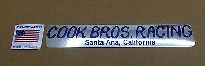 RED WHITE /& BLUE fork decals Cook Bros Old school bmx