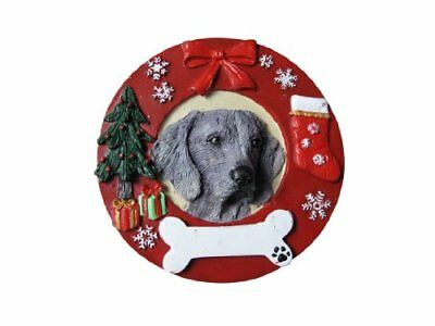Weimaraner Ornament Personalized and Hand Painted Measures 3.75 Inches Diameter