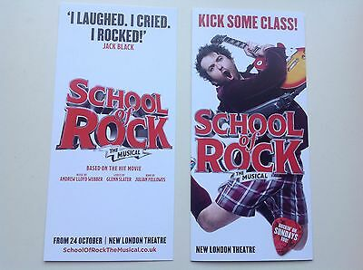 2 x different Flyers SCHOOL OF ROCK The Musical New London Theatre