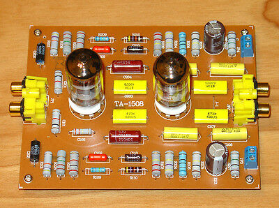 12AX7B Phono Tube PreAmplifier MM Turntable HiFi Class A Valve Preamp Kit