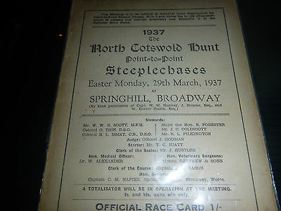 North Cotswold Hunt Racecard 1937