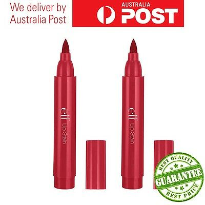 BULK SALE!! ELF COSMETICS ESSENTIAL LIP STAIN Cherry Bomb/Nude Nectar 2 or 3pack