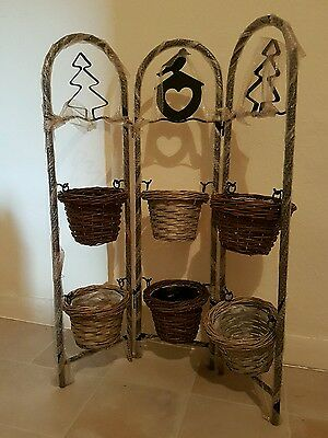 Metal Floor-Standing Wrought Iron Pot Plant Stand Flower Planter 6 Style UK Sell
