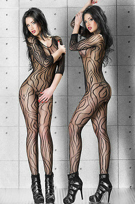 QUALITY Dynamic Pattern Bodysuit BNWT Tights Catsuit Bodystocking Lingerie