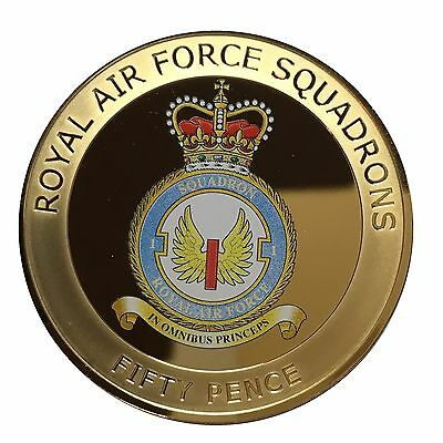 2013 Bailiwick of Guernsey Royal Air Force Squadrons Fifty Pence Coin