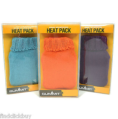 SUMMIT Pocket Hand Warmers Re-Usable Heat Pack Pad For Hands With Knitted Cover