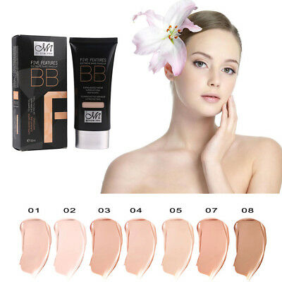 50ml Waterproof Natural Foundation Concealer Isolation Whitening Makeup BB Cream