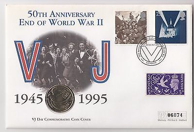 1995 UK 50th Anniversary of the End of WWII Coin Cover with £2 Coin
