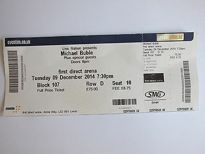 Michael Buble Ticket 9/12/14 - First Direct Arena, Leeds