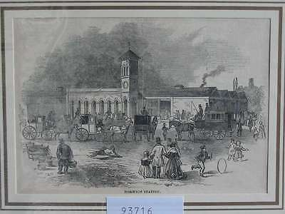 93716-GB-UK-England-Norwich Station-T Holzstich-Wood engraving