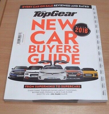 BBC Top Gear New Car Buyers Guide magazine WINTER  2016 Every Car Reviewed&Rated