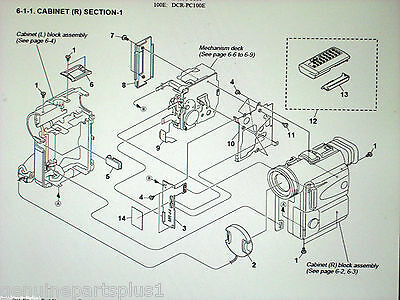 GENUINE  PARTS FOR SONY DCR-PC100 from $5-$55