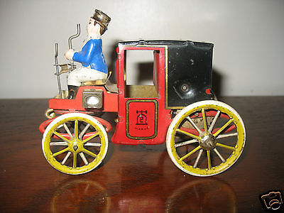 Superb Lehmann EPL 420 MOTOR CAR Tinplate Clockwork Carriage 1890/1900 Tin Toy