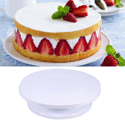 Skidproof Piping Turning Table Revolving Cake stands Decorating Baking Tools New