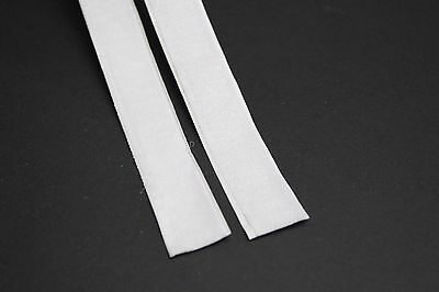1m 20mm White Hook and Loop Fastening Self Adhesive Sticky Strip Velcro Type