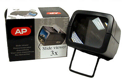 AP 3x Slide Viewer for 35mm Mounted Slides - Illuminated
