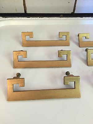 Vintage Chinese Handles Hardware Gold Gilt Set Of Six